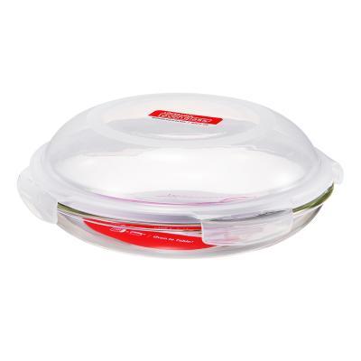 Plato hondo para horno cristal con tapa 21 cm