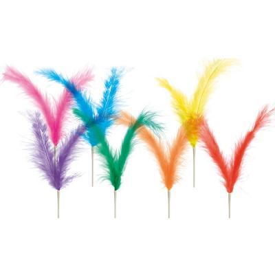 Set 5 plumas dobles Pascua colores 22 cm