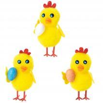 Pollito amarillo con Huevo Pascua 5 cm