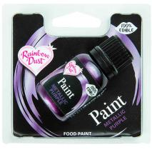 Pintura alimentaria metálica 25 ml Púrpura