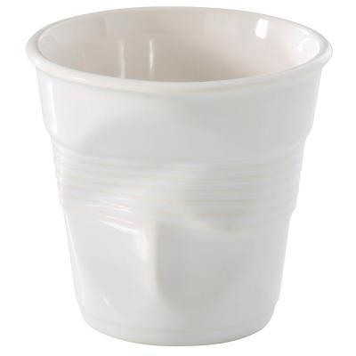Taza capuccino arrugada 180 ml blanco