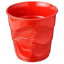 Taza capuccino arrugada 180 ml rojo