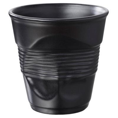 Taza capuccino arrugada 180 ml negro