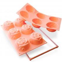 Molde rosas 6 cav. x115 ml