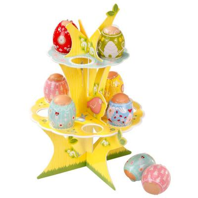 Expositor Árbol 2 pisos Huevos de Pascua con cinta