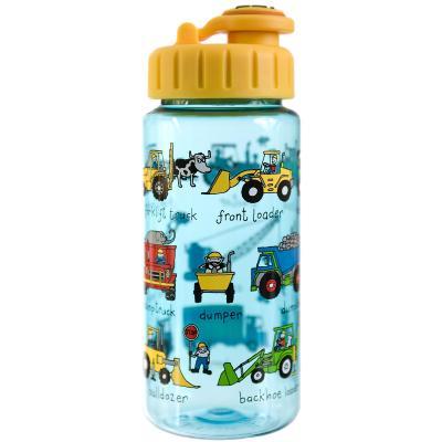 Botella agua con pajita Tractores