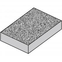 Motllo torró clàssic granulat x 2 meitats