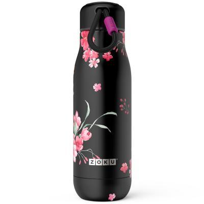 Botella termo acero Zoku 500 ml flores