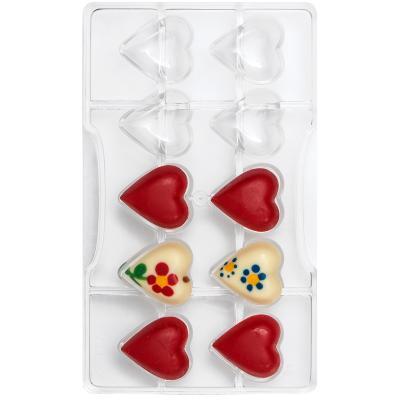 Molde policarbonato para bombones Corazón x10
