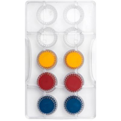 Molde policarbonato para bombones Cápsula x10