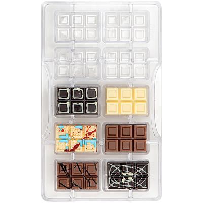 Molde policarbonato para bombones Tableta Mini x10