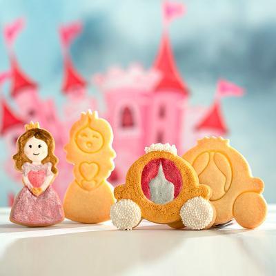 Set 2 cortadores galletas plástico Princesa