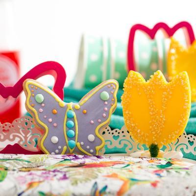 Cortador galletas plástico Pascua Flor