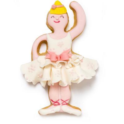 Set 2 cortadores galletas plástico Bailarina Tutú