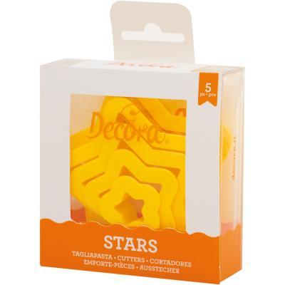 Set 5 cortadores galletas Estrellas tamaños