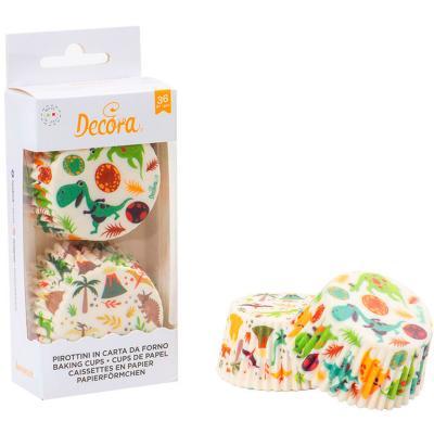 Papel cupcakes x36 Dinosaurio