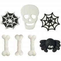 Set 7 decoraciones de azúcar Scary