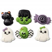 Set 6 decoracions de sucre Frankenstein
