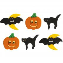 Set 6 decoracions de sucre Halloween clàssic