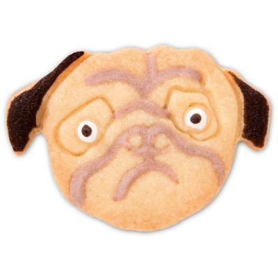 Cortador galletas cara perro Pug 5,5 cm