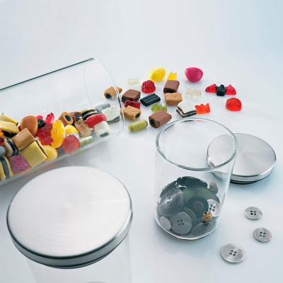 Bote de cocina cristal borosilicato tapa acero