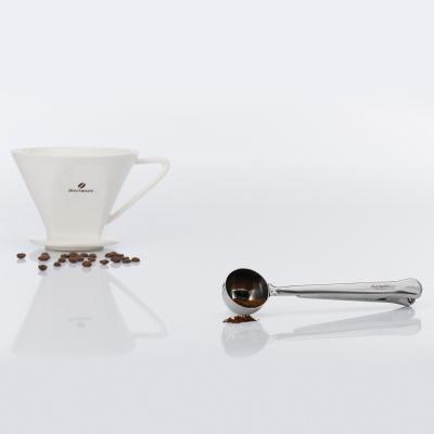 Cuchara dosificadora café con clip cierre