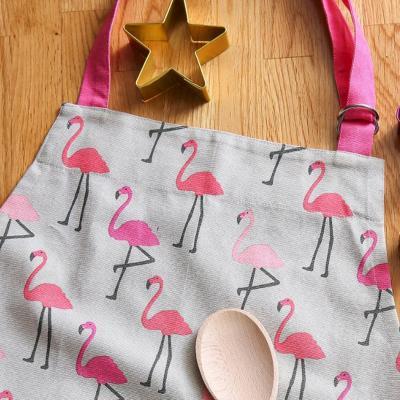Delantal adulto flamingo rosa