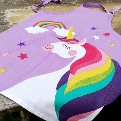 Delantal infantil unicornio