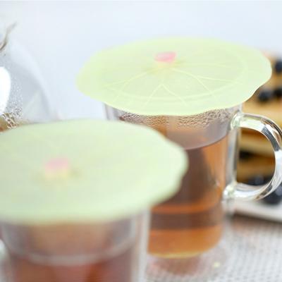 2 tapas bebidas Lilypad silicona 12 cm