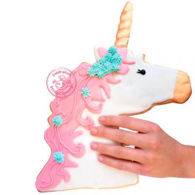 Molde Cortador galletas XXL Unicornio 26 cm