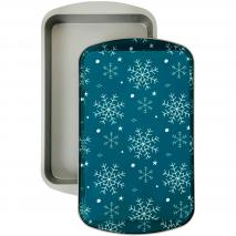 Set 2 moldes regalo rectangular Copos Nieve