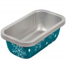 Set 4 moldes regalo mini Loaf Copos Nieve