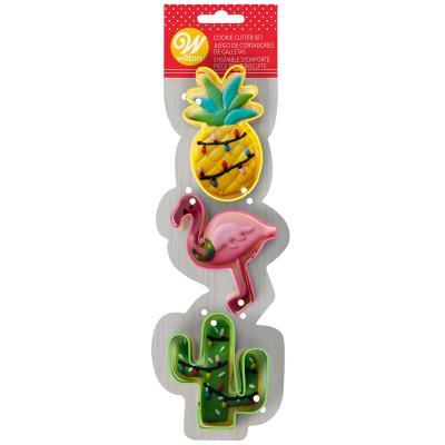 Set 3 cortadores galletas Flamenco/Cactus/Piña