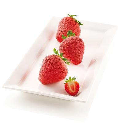 Molde silicona multicavidad Fresas Fragole Panna
