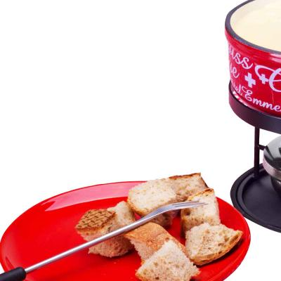 Fondue queso hierro fundido Gruyère