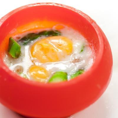 Molde ovo silicona para huevos semisférico