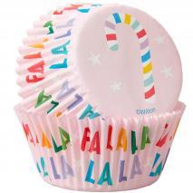 Papel cupcakes x75 Fa La La