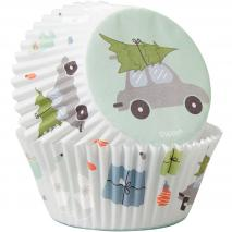 Papel cupcakes x75 Winter Wishes