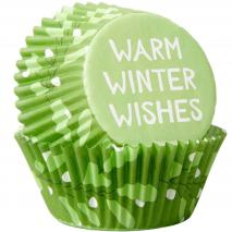 Papel cupcakes x75 Warm Winter Wishes