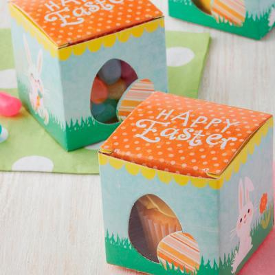 Juego 10 mini cajas Huevo Pascua