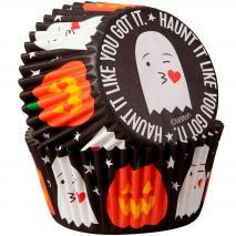 Papel cupcakes x75 Fantasma y Calabaza