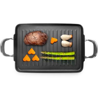 Plancha grill con difusor inducción total 34x24 cm