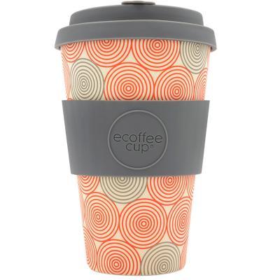 Taza bambú con tapa New Ecoffee 400 ml Swirl