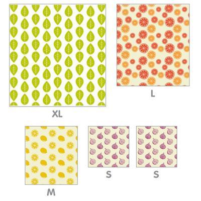 5 hojas envoltorio cera abeja medida variada