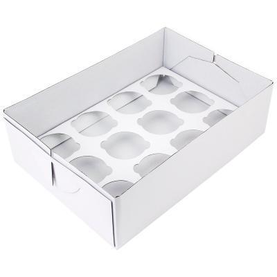 Caja para 12 cupcakes blanca h 9 cm