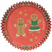 Paper cupcakes x48 Gingerbread