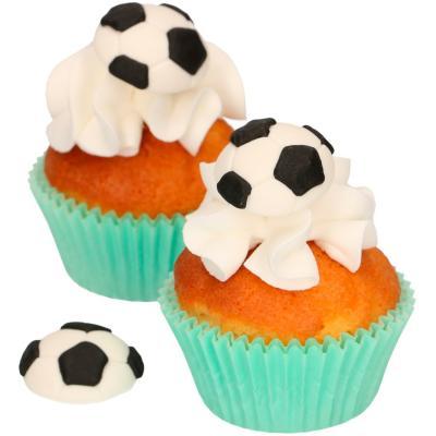 Set 8 decoraciones de azúcar Pelotas Futbol