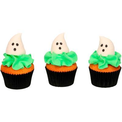 Set 3 decoraciones de azúcar 3D Fantasmas