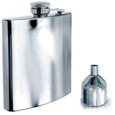 Petaca acero con embudo 200 ml