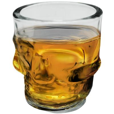 Juego 4 vasos chupito calavera
